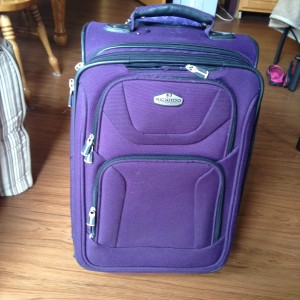 Ah, a purple suitcase!